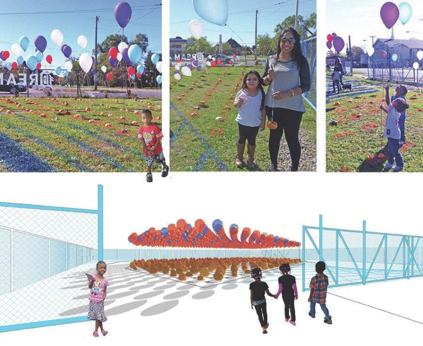 Dream Up!, in which the studio hosted a one-day event last fall and turned an empty Detroit lot into a temporary pumpkin patch, inviting residents to discuss making it into a permanent open space for the community.