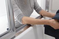 Get Comfy with Sterling's Shower Doors with ComforTrack