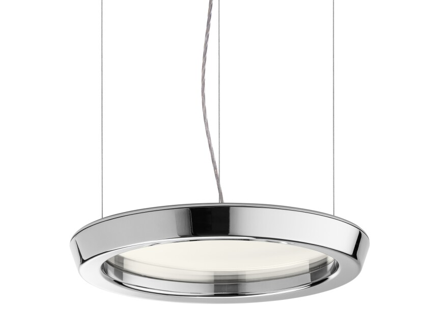 The Zirkon family of wall and ceiling luminaires includes a pendant version (shown).