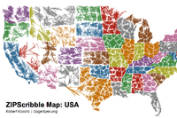 These 'Scribble Maps' Connect Every U.S. ZIP Code in Ascending Order