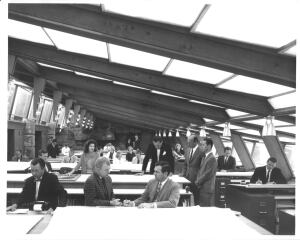 At a time when women had few options in architecture, Frank Lloyd Wright provided one, as a circa 1962 photo from Taliesin West attests.
