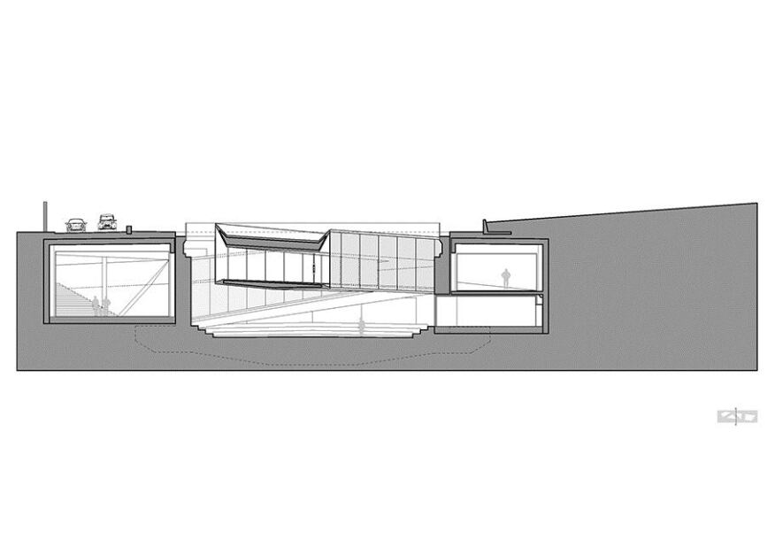 Section through dry dock.