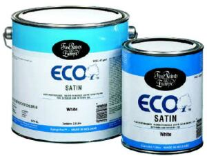 EURO RAILS: ECO is a water-thinnable, urethane-alkyd product that combines the advantages  of acrylic and oil paint, the manufacturer says. Designed for windows, doors, trim, cabinets, and  shutters, the product should be applied and left  alone to self-level and dry for the best finish. It does not off-gas or release  odors into the environment, the company says. Fine Paints of Europe. 800-332-1556. www.finepaintsofeurope.com.