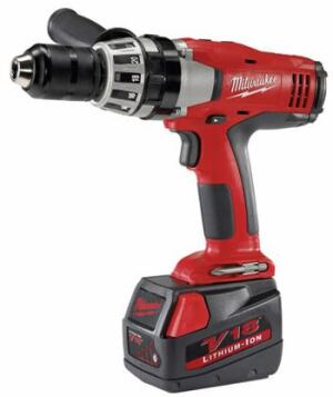 DROP THE HAMMER: The 18-volt hammer drill offers up to 50 percent more run time compared to  NiCad, says the company. It also features a built-in fuel gauge, so users always  know how much run time is available without needing to place it on a  charger. It has 495 inch-pounds of maximum torque, an all-metal, single-sleeve  ratcheting chuck, and soft-grip handle. Milwaukee Electric Tool Corp. 800-729-3878. www.milwaukeetool.com.