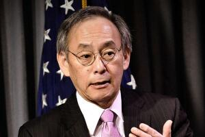 U.S. Secretary of Energy Steven Chu during an online town hall to discuss President Obama's clean energy and innovation agenda on January 11, 2011.