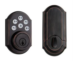 Remote Control: Kwikset's SmartCode Signature Series keyless entry deadbolt can be programmed for both residents and temporary access. It also is the only product in its category to feature a motorized deadbolt. Remote access will give users the ability to lock and unlock doors via a remote control, cell phone, security system touch panel, or secure Web access. For more information, call Kwikset at 1-800-327-LOCK or visit www.kwikset.com.