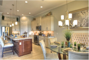 A kitchen view in one of the new models.