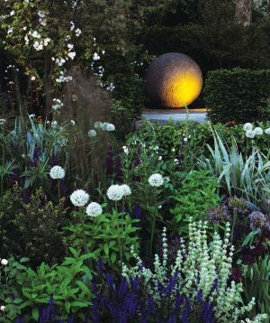 Cleve West's Bupa Sensory Garden, created for London's 2008 Chelsea Flower Show, was designed for the benefit of people suffering from dementia and other memory issues. Almost 90 types of plantings, placed at various heights and depths, fill the garden.