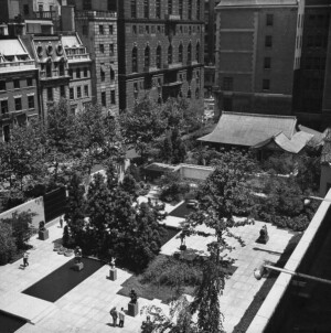 The temporary Japanese pavilion exhibited at MoMA in 1956