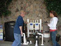 Display it: A salt chlorinator  in the showroom can help customers better understand how such units  function. It's another opportunity for the retailer to  discuss the system's benefits.