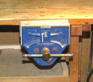 My Record vise. Not Studley-esque, but it does the job.