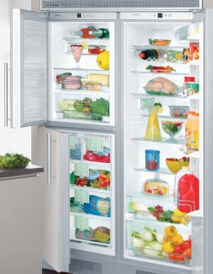 wide by side   This double-wide refrigerator is actually two 24-inch-wide units joined by a built-in trim kit. Manufactured by the Liebherr Group, a German refrigerator and freezer company new to the U.S. market, the Premium BioFresh NoFrost combines 13.5