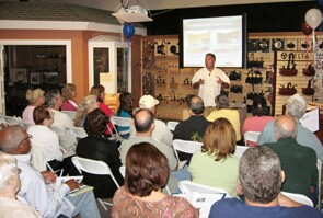Vince Nardo, president of Reborn Cabinets, holds kitchen seminars that are a hit with homeowners.