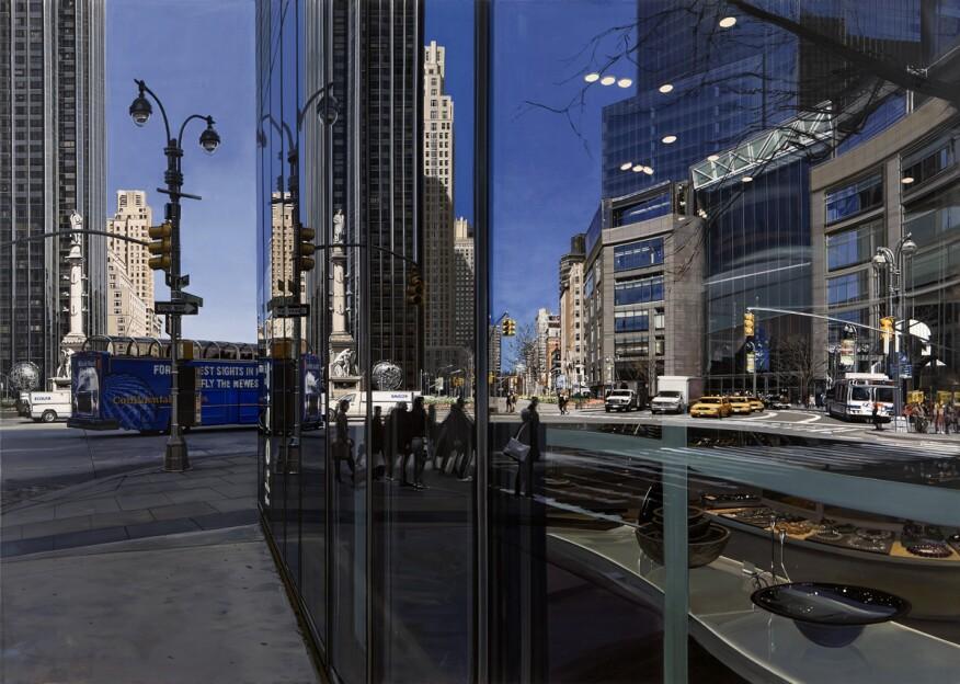 Columbus Circle Looking North (2009).