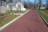 Permeable clay pavers for streets, sidewalks