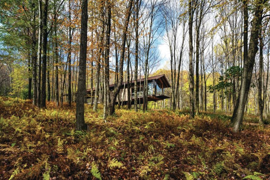 Catskills Guest House and Artist Studio, designed by Cutler Anderson Architects.
