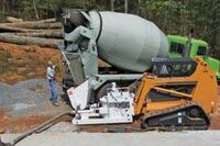 Turn your skidsteer into a concrete pump