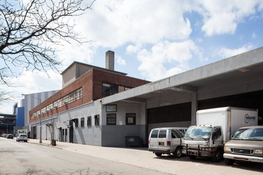 Outside the Edison Price Lighting facility in Long Island City, N.Y.