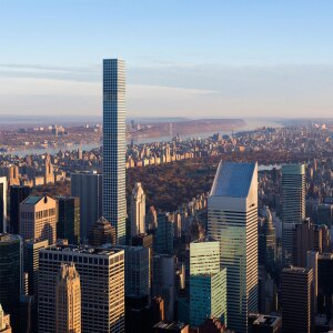 A view of 432 Park Avenue, which is currently the tallest residential building in the Western Hemisphere.