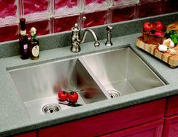 Sinking FeelingTHE LINEA SERIES SINK HAS A STREAMLINED design that is ideal for buyers who like mid-century modern design, the company says. Made from 18-gauge stainless steel, the sink measures 33 inches wide and 20 inches from front to back. It comes standard with a hand-polished finish and extra-deep bowls. Sound-deadening panels absorb noise. Cost: $1,195. Teka Products. 800-419-9344. www.tekausa.com. Circle no. 103.