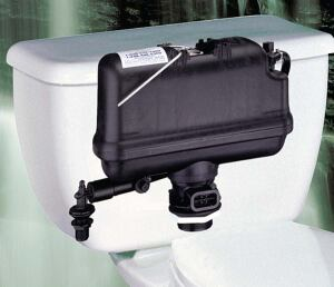 "under pressure  ""Ingenious"" is the word Wilson uses to describe Sloan's Flushmate pressureassist toilet system. The highperformance, low-consumption system harnesses pressure from the water supply line to generate the energy needed to complete the flush. T"
