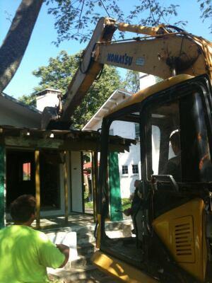 Crews began demolition last fall.