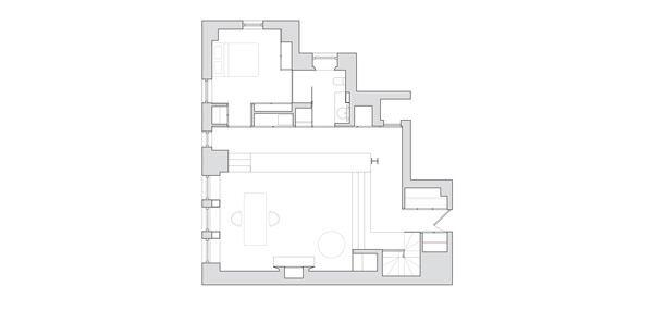 Plan after renovation.