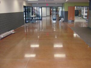 Schools such as Woodland Elementary are opting for polished concrete in greater numbers.