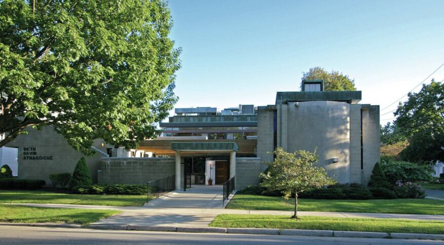 The Werner Seligmann-designed Beth David Synoaguge in Binghamton, N.Y.