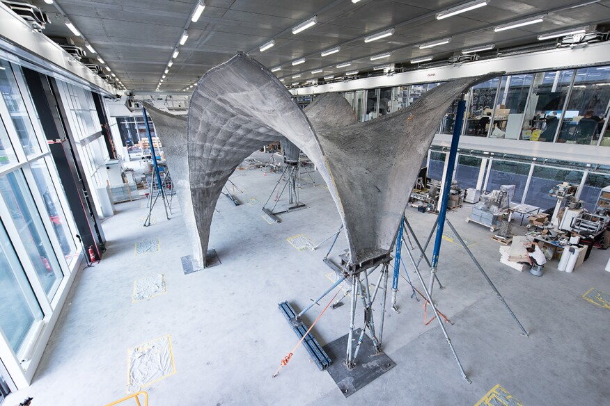 An Ultra Thin Double Curved Concrete Roof Architect