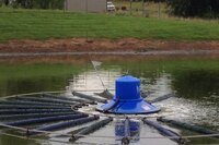 Lagoon aerator eliminates dredging
