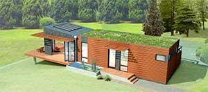 Michelle kaufmann's new zero-energy green-built prefab home.