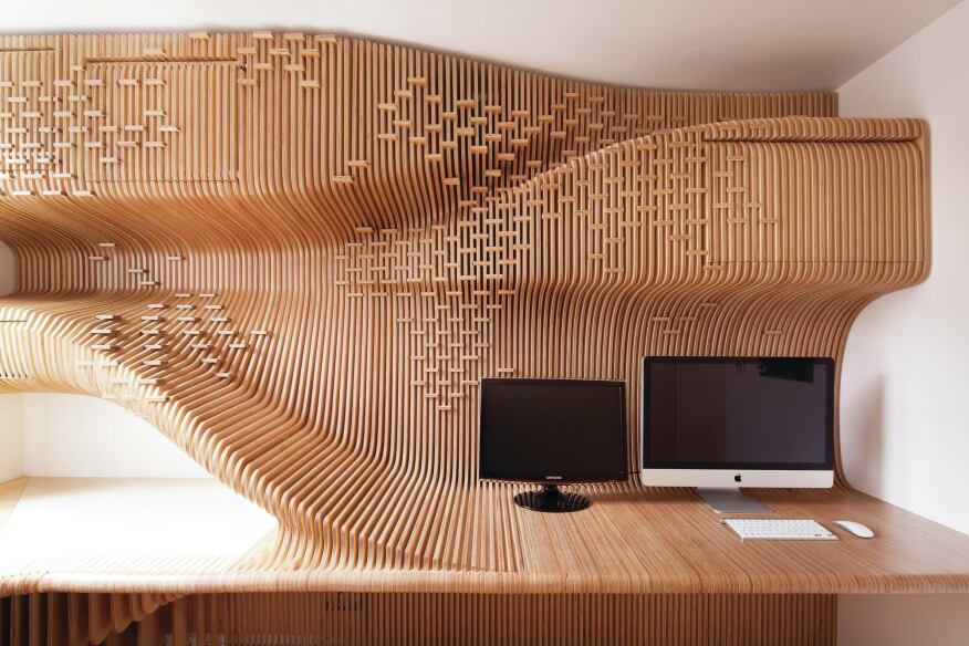 Chelsea Workspace Is A 75 Square Foot Home Office In London Digitally Designed And Courtesy Synthesis Design Architecture