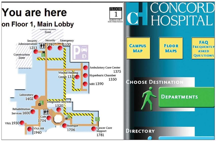 Here2There wayfinding and directory software from Global Software Application