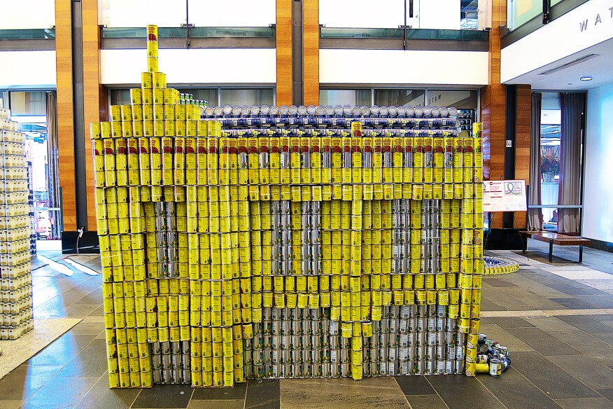 The Demolition of the Boston Garden, by Phase Zero Design (5,269 cans)