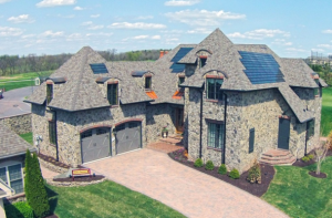 Homes like this in the Links at Gettysburg, a development in Gettysburg, Pa., were designed with high insulation levels to keep out drafts and withstand both hurricanes and tornadoes. (Image courtesy of The Washington Post)