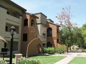 up for grabs: The 582-unit??? Tuscany Palm in Mesa, Ariz., which was abandoned by Bethany Holding Group and placed under receivership, went up for sale in September.