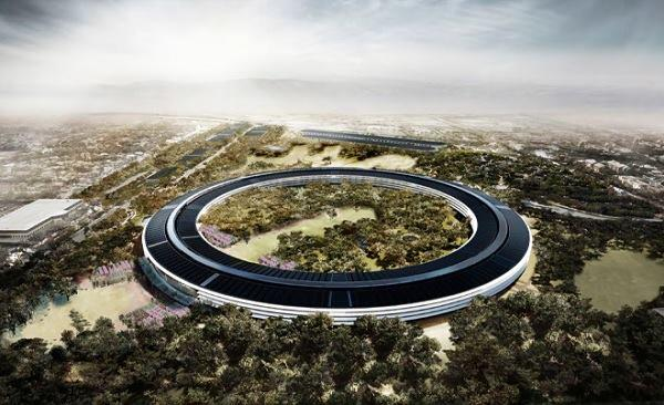 A rendering of the proposed future Apple headquarters