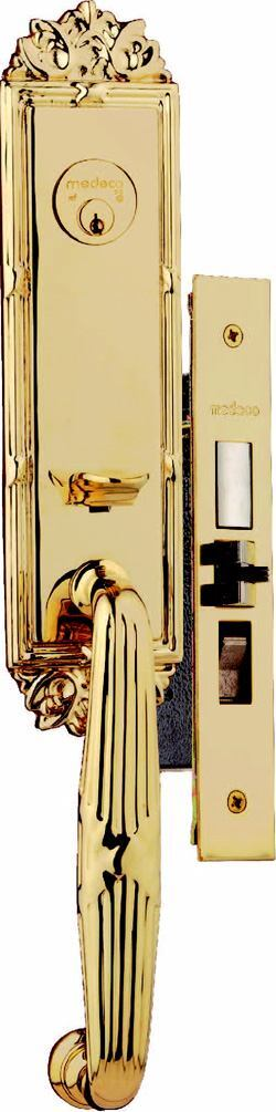 Locked UpTHE PARLIAMENT MORTISE LOCK features solid-brass construction, a pickproof triple-locking mechanism, a 1-inch hardened steel deadbolt, and a reinforced strike. It comes in PVD (physical vapor deposition) brass, satin nickel, oil-rubbed bronze, and antique brass. Cost: $670. Medeco. 800-839-3157. www.medeco.com. Circle no. 106.