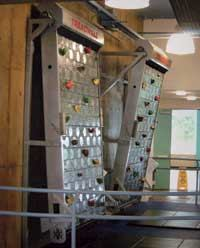 ROCK ON: The colorful Treadwall is sure to catch the eye of prospects and residents alike. It brings the capabilities of a climbing gym to the limited space of a fitness center. The rotating wall uses natural pace technology for self-paced, motorless climbing with adjustable angles and holds. The product comes in 4-foot- and 6-foot-wide models and requires a minimum ceiling height of 10 feet.