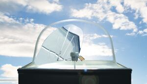 SunTracker Two daylighting system  Ciralight  www.ciralight.com  Tracks sunlight and reflects into interior via acrylic dome and lenses, a single aluminum mirror, and a polished aluminum light well    Controller calculates sun's position regardless of weather    Maintains accurate time to within one second per year    Achieves 0.35 U value