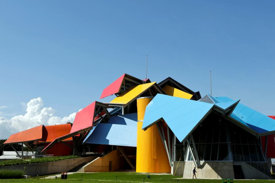 The Biomuseo, designed Frank Gehry, opens this week in Panama.
