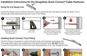 CableRail Quick-Connect® Fittings  Installation