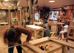 Custom cabinets, millwork, and furniture are made in South Mountain Co.'s shop.