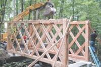 Town Lattice Truss Bridge For A Bride