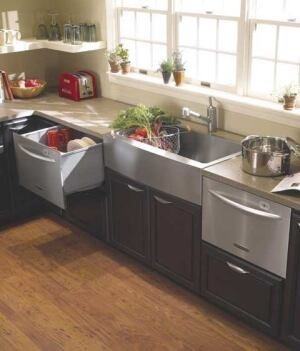 Space savers multifamily executive magazine appliances kitchen architects products doors - Small dishwashers for small spaces pict ...