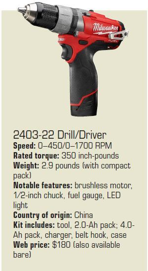 Milwaukee Electric Tool 800.729.3878 milwaukeetools.com