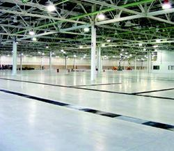 The polished floor shines in summer 2005, before the auto plant's heavy equipment is installed.