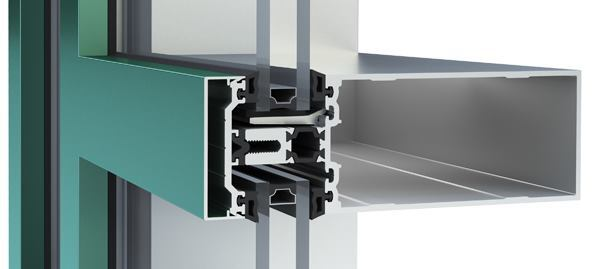 Thermal barriers can reduceheat transfer through the window framing. The YCW 750 XT framing system from YKK AP America features a dual thermal barrier to retaininterior heat, reduce condensation, and limit energy loss.