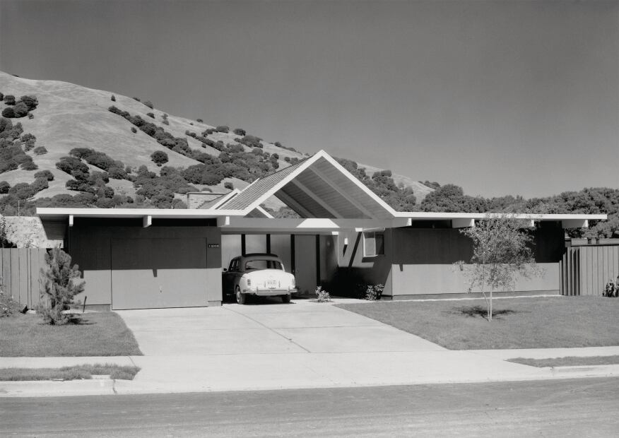 An Eichler in Lucas Valley, Calif., circa 1962.